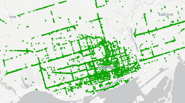 Mapping bicycle parking in the city