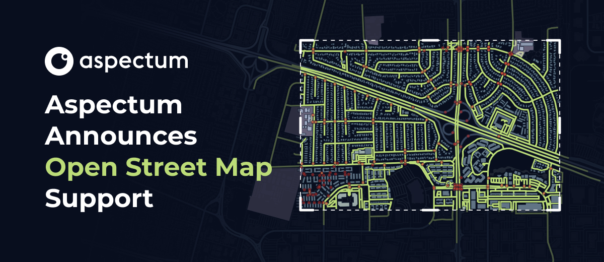 Aspectum Announces Open Street Map Support